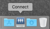 Connect Icon in lower right Dock