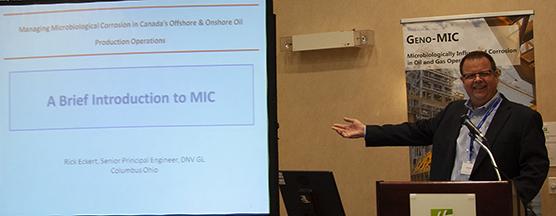 Dr. Rick Eckert, DNV GL, introducing MIC